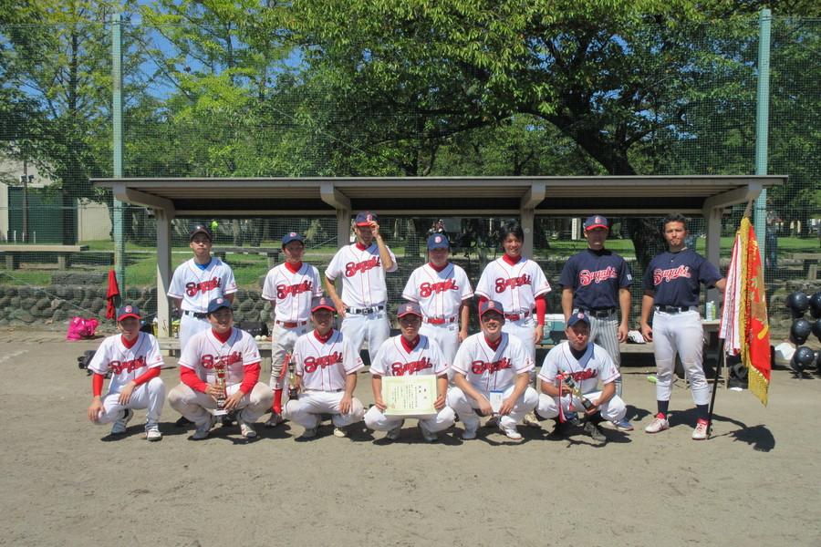 野球部。2019年印刷人野球大会で見事優勝しました!