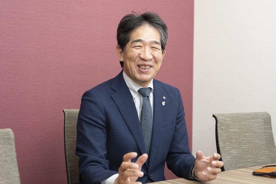 代表取締役社長の上田信和さん